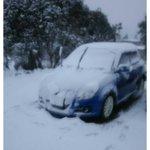 赤い車に乗った雪は父の職場(西富士道路降りてすぐ)ちっちぇぇ雪だるまは⛄️父が持ち帰った雪 後の二枚...