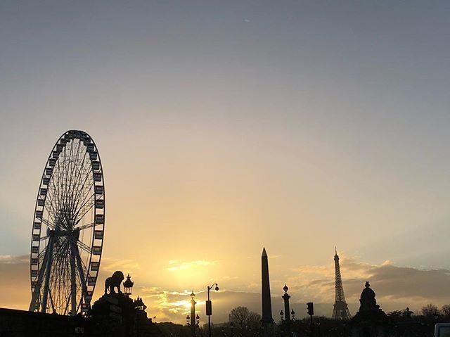 #paris #skyline #concorde #eiffel #obelisque #sunset #skyseverywhere https://t.co/8VG3 ...