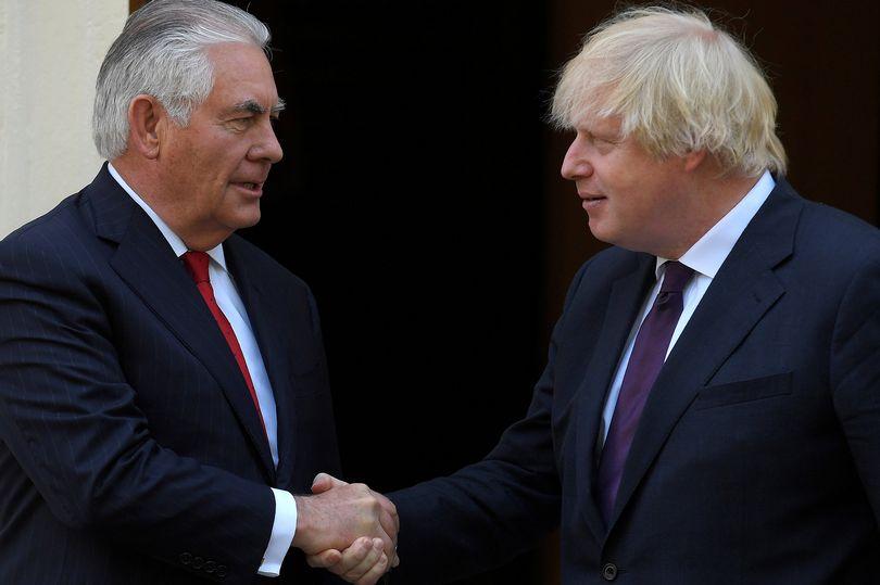 Donald Trump's Secretary of State Rex Tillerson visits London for talks with Boris Johnson  https://t.co/QFp6EJD1Cx https://t.co/Jy2a8CLk6H