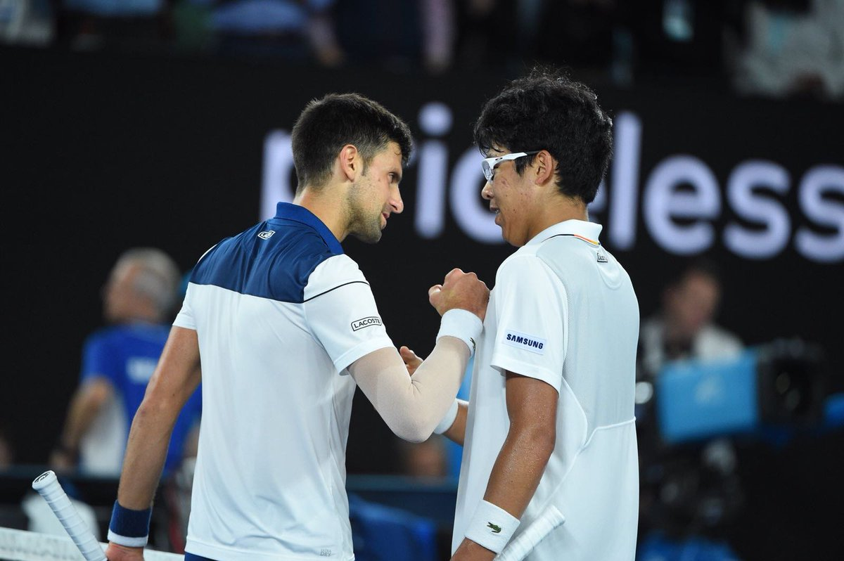 RT @DjokerNole: That was an incredible performance #Chung! Keep up great work. You've got this! 👏 #AusOpen https://t.co/GjCwmnhXOd