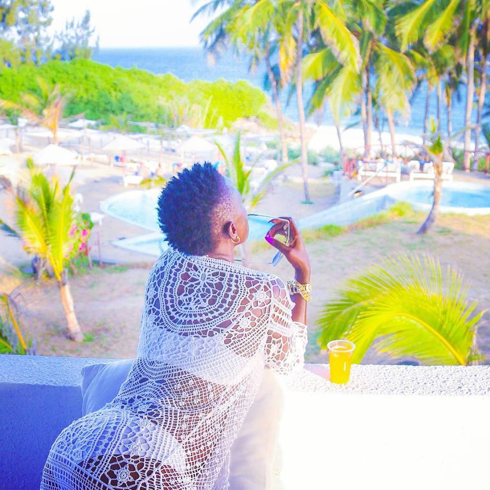 Singer Akothee shows fans her underwear in her characteristic boldness