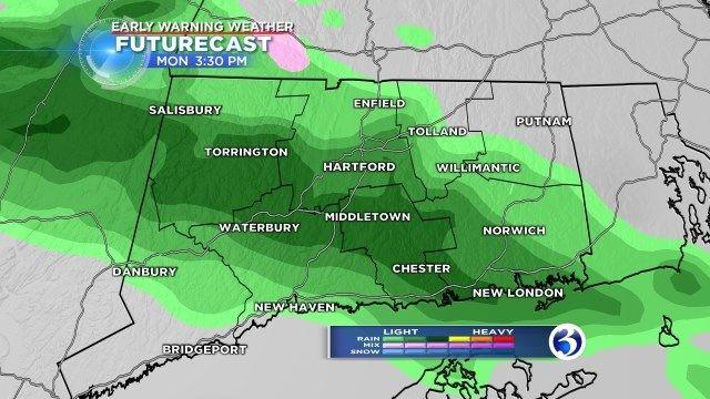 Some slick spots today, heavy rain tomorrow