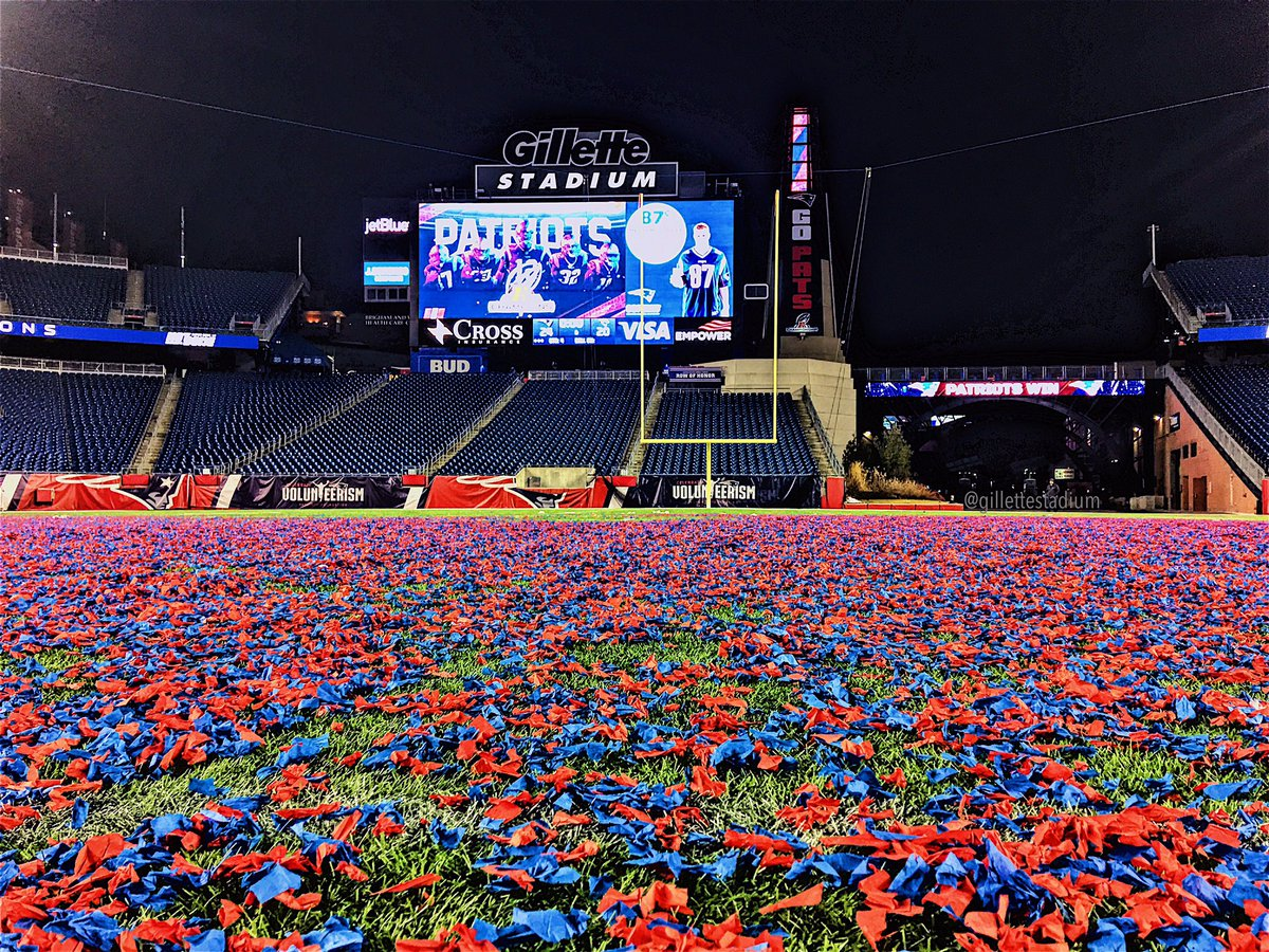 RT @GilletteStadium: This isn't even close to the last confetti pic we'll be posting.  Deal with it.  #NotDone https://t.co/el4GhJiyUE