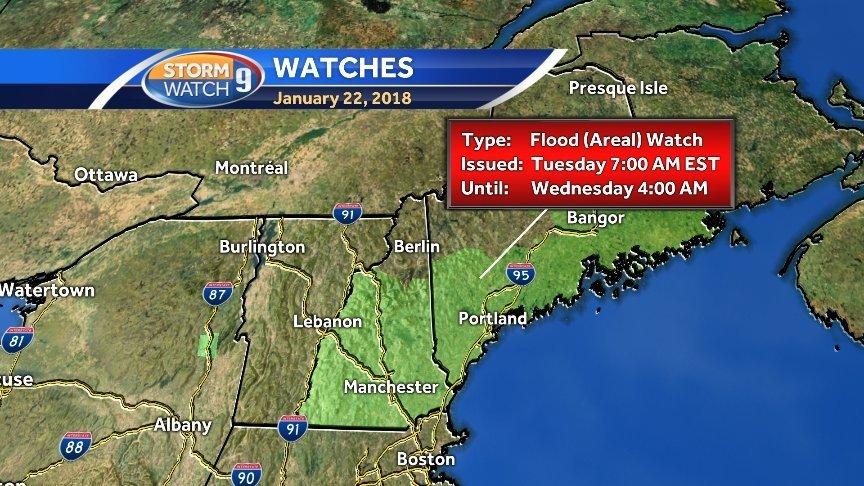 Flood watch: Snow, wintry mix, rain on tap through Tuesday night