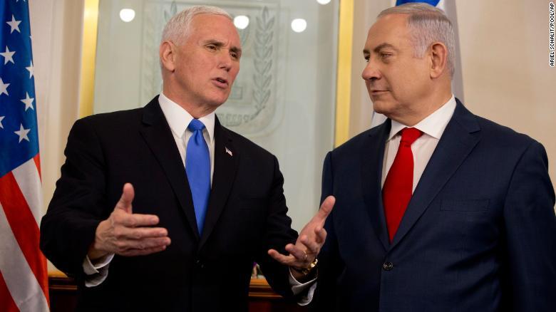 VP Mike Pence calls Jerusalem 'Israel's capital' on visit with Netanyahu https://t.co/6SrWUlKlV9 https://t.co/qzrfJyOPTj