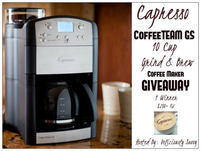Capresso CoffeeTEAM GS 10-Cup Grind/Brew Specialty Brewer Giveaway