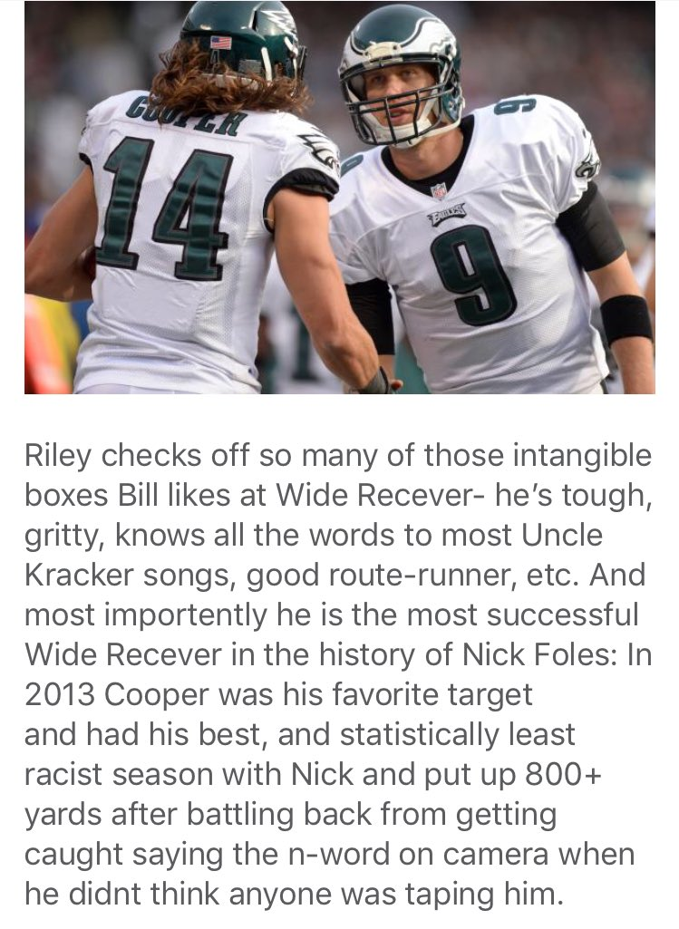 RT @PFTCommenter: Riley Cooper to the Patriots makes allmost too much sense https://t.co/0IwUkdQTwk https://t.co/G6GGz8hOeD
