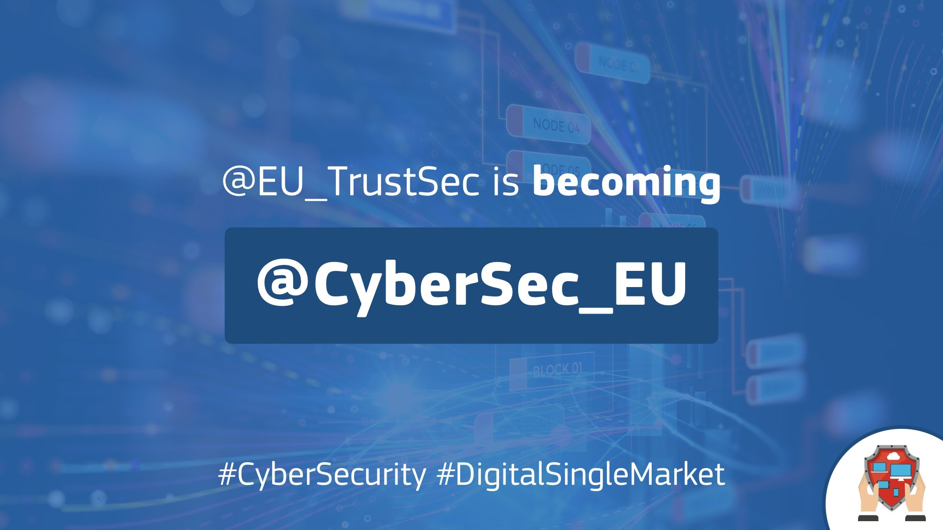 Our handle is now @Cybersec_EU ; so much going on in #cybersecurity we are rebranding our twitter presence ; keep following us for the latest in policy, research and innovation in #cybersecurity/#infosec in the #EU. Also digital #privacy/#ePrivacy. https://t.co/JASHLbRsiN