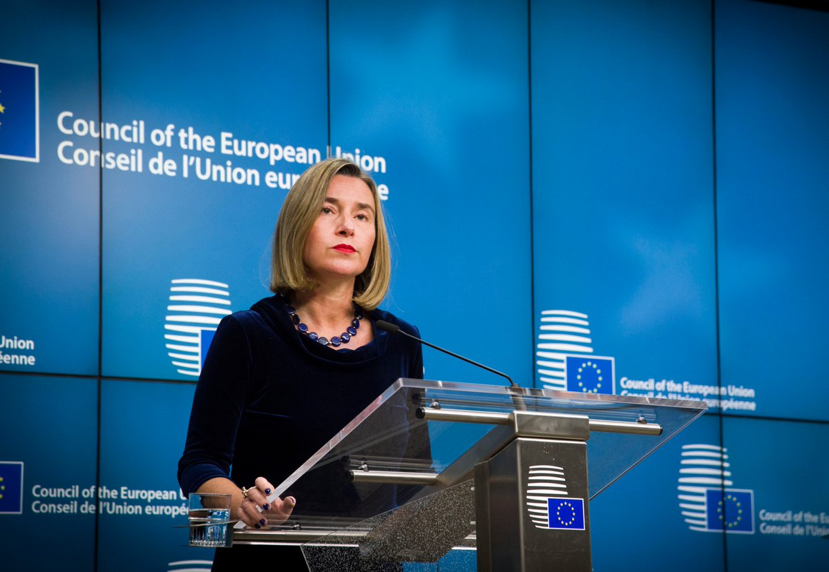 test Twitter Media - .@FedericaMog speaks to the press after Foreign Affairs Council. #MiddleEast Peace Process, #Afrin 📺▶️https://t.co/8zDg6U6HAU https://t.co/Po65kSKm8G