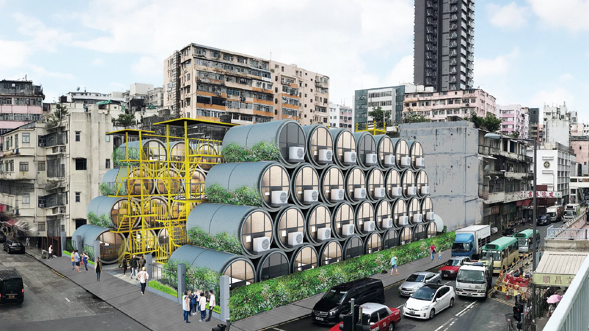 These micro apartments in concrete pipes are designed to ease Hong Kong's housing crisis https://t.co/GsozhuKtyK https://t.co/wC1VSaSAhq