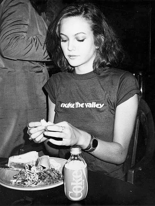 Happy birthday to Diane Lane. Photo by Andy Warhol, 1984.