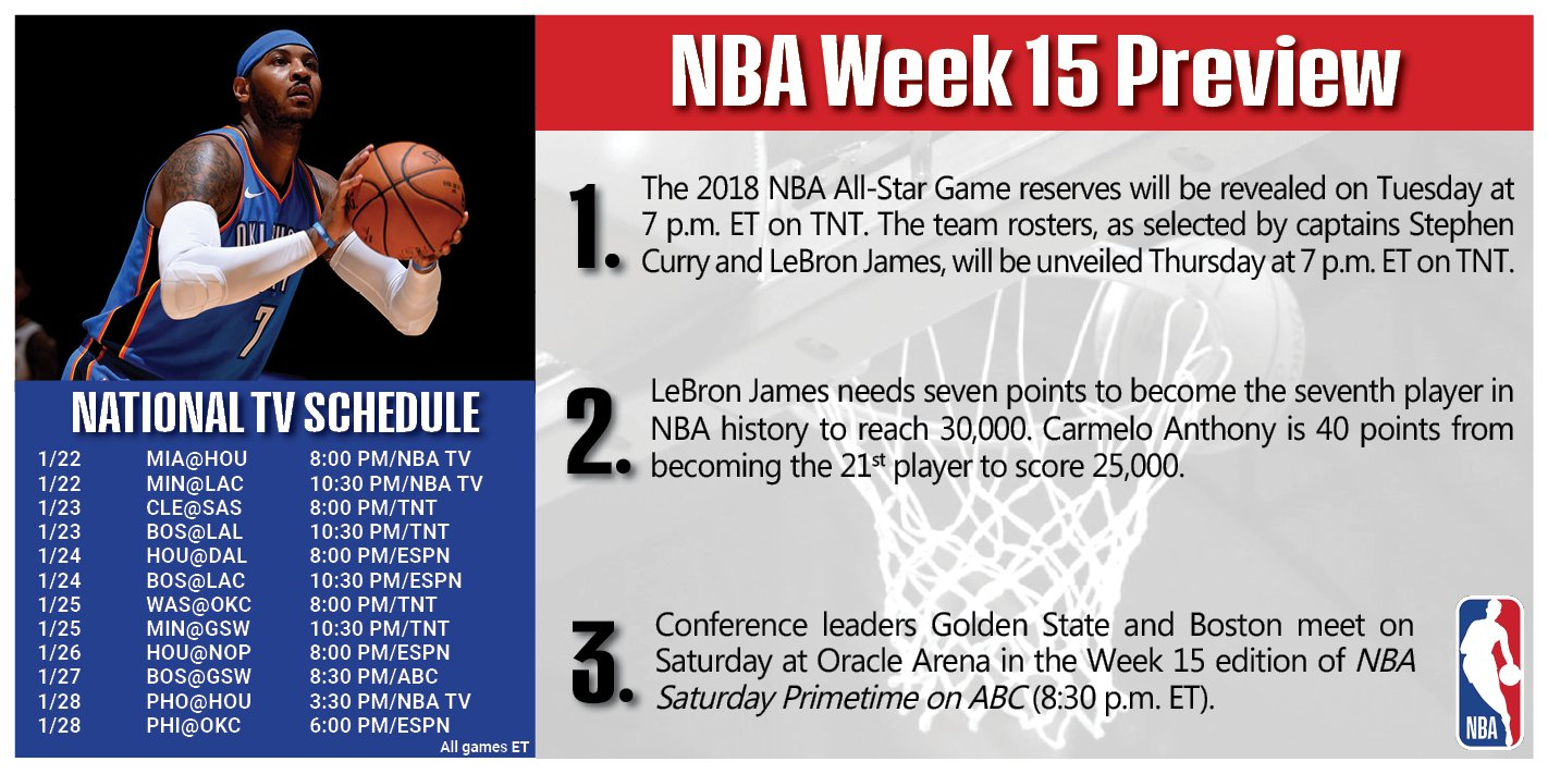 A look ahead to Week 15 around the Association! https://t.co/YcJYhFB4Qb