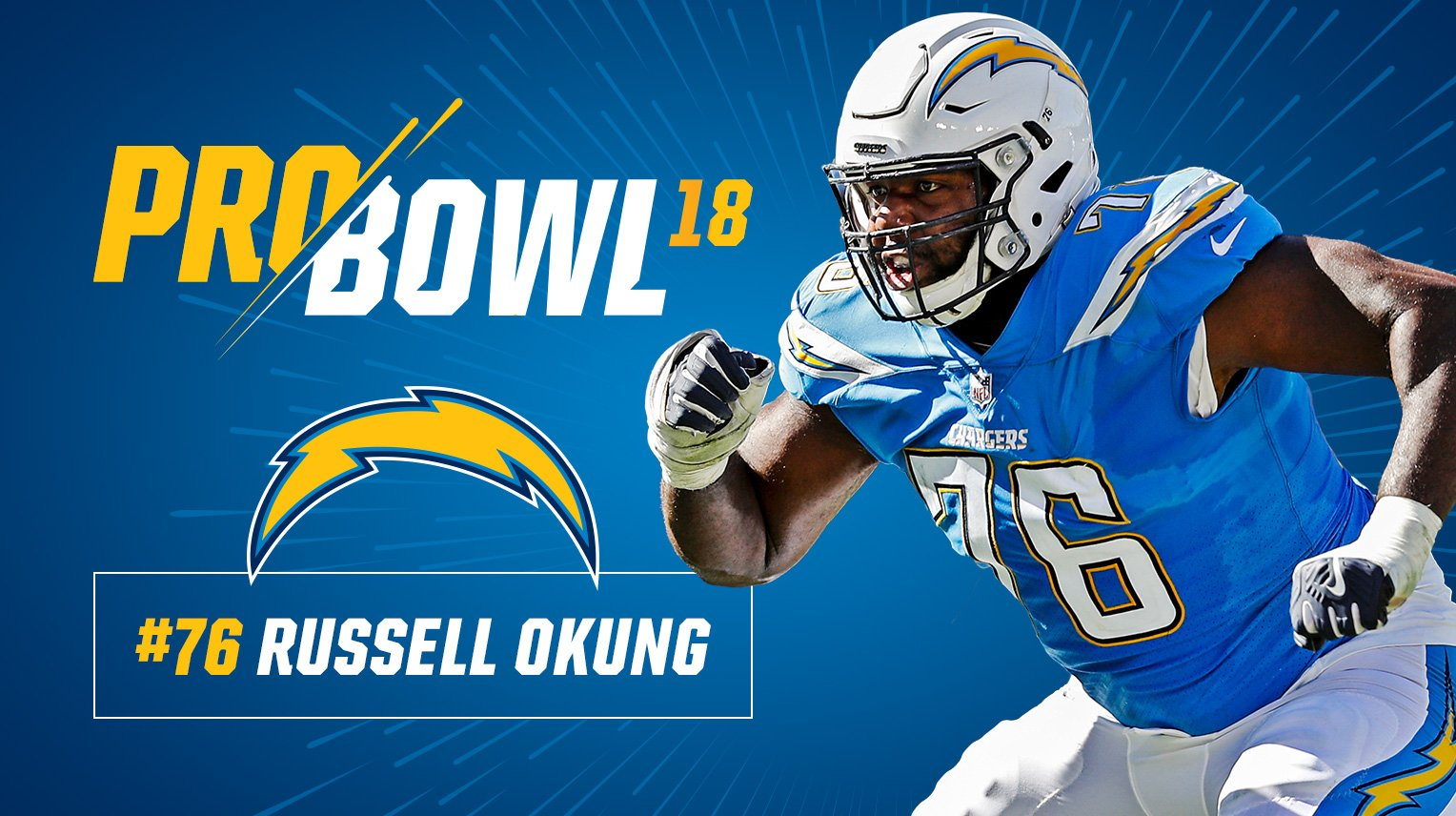 .@RussellOkung named to the 2018 Pro Bowl.  MORE: https://t.co/OROr7ASfHJ https://t.co/x3sU3N45P9