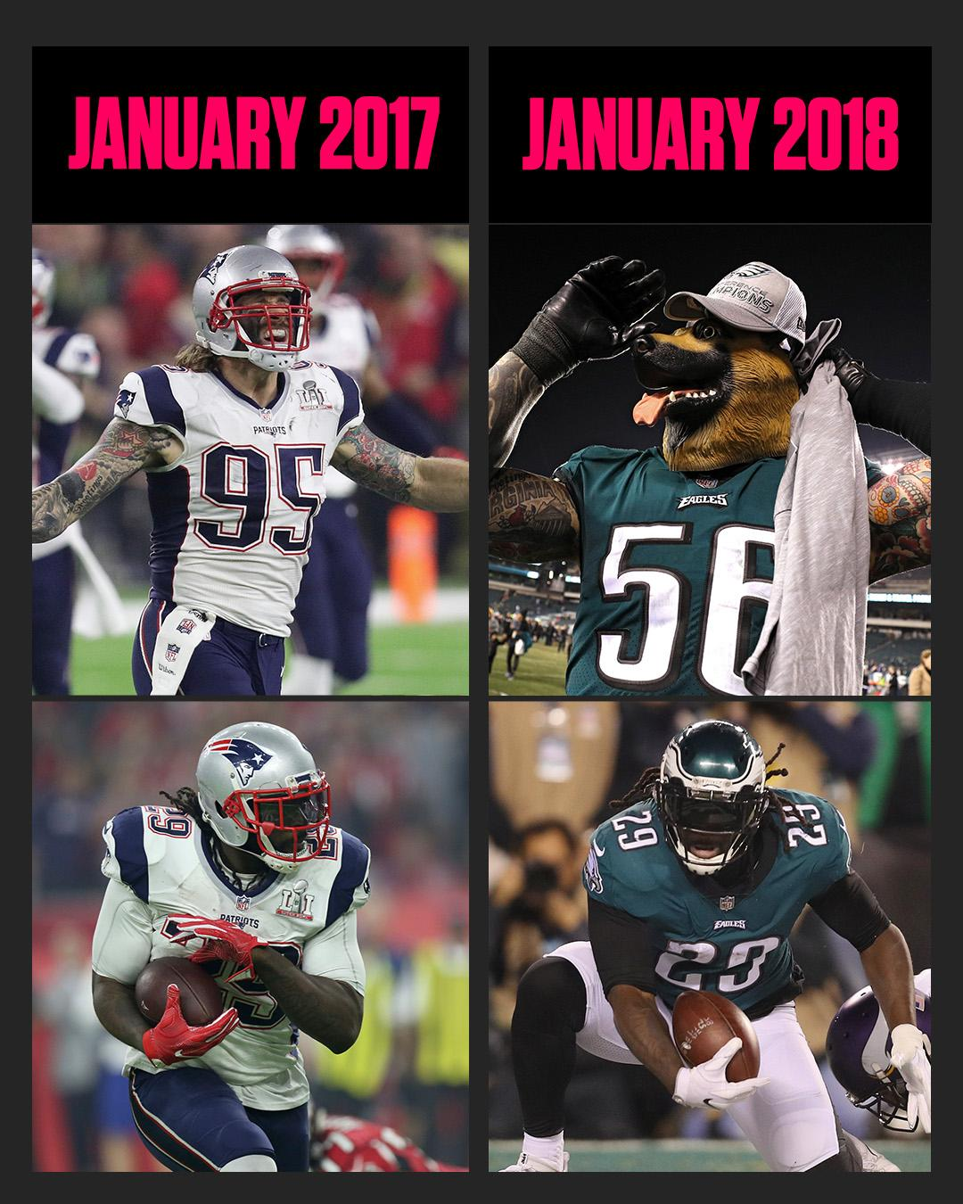 One year later, Chris Long and LeGarrette Blount will be competing for another Super Bowl … with a different team. https://t.co/fpvqYmxCOt