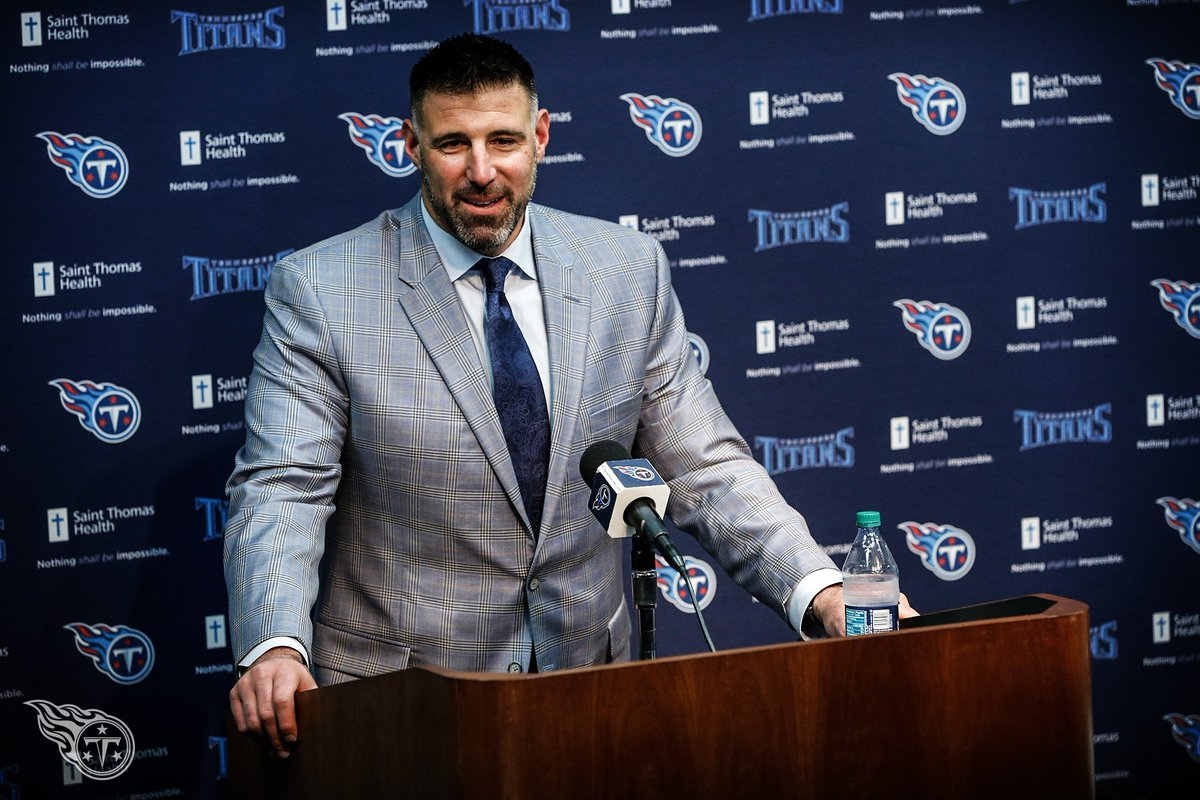 """New head coach Mike Vrabel shares his Titans Vision  """"To get a 'Titans Way' you have to win."""" ⚔️ » https://t.co/P5Jagg2j5J https://t.co/fuRqV5wWvP"""