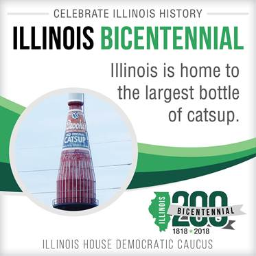 test Twitter Media - In 1947, the Brooks Tomato Products Company built a 100,000-gallon water tower and decided to make it in the shape of its most well-known product. #Celebrate200 #IllinoisProud https://t.co/6elAlUfWLs