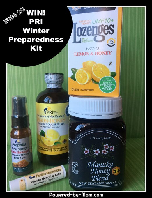 Be Prepared for Winter with a PRI Honey Prize Pack #Giveaway Ends 2/3