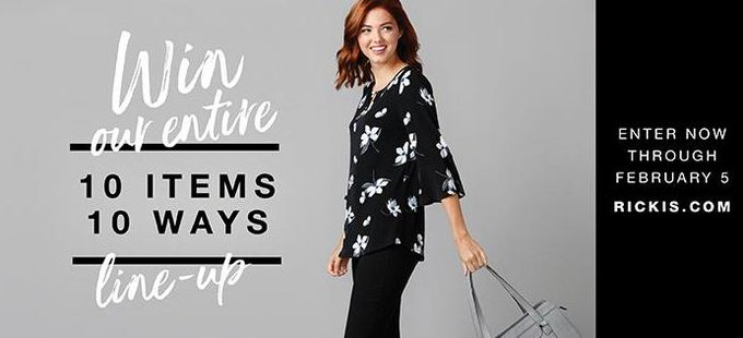 Ricki's Contest: win this month's entire 10 Items 10 Ways line-up
