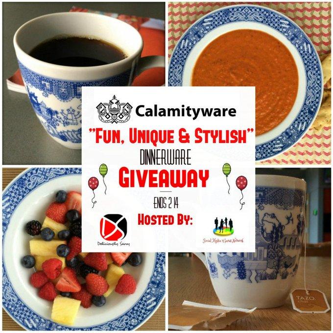 Calamityware Dinnerware Giveaway ($104 RV) {US, 2/14/18}