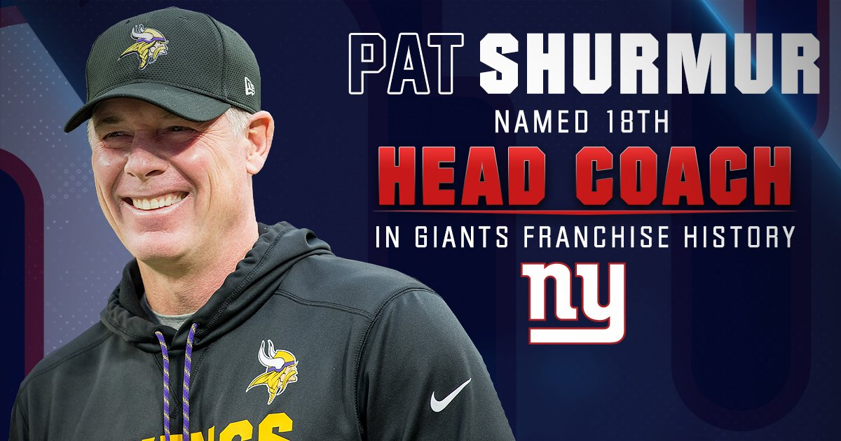 RT @Giants: Welcome to Big Blue, Coach Pat Shurmur!  QUOTES: https://t.co/8BdsI8lwve https://t.co/zxX7FNj0Q4