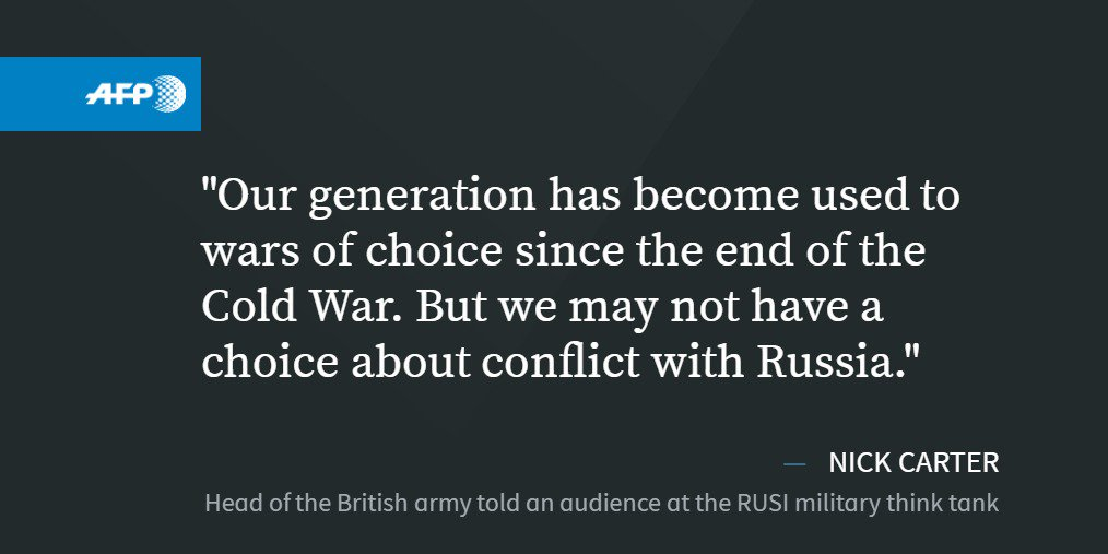 Russia posing most complex challenge since Cold War: UK army chief