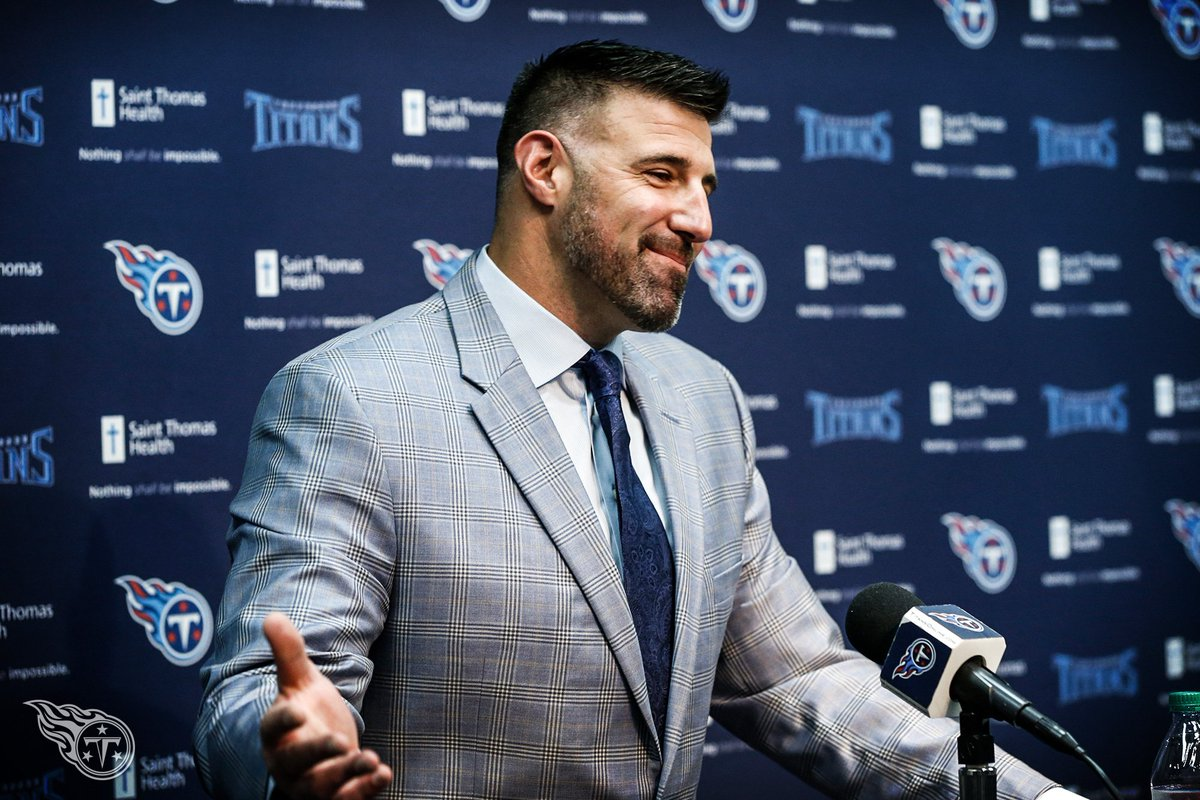 Mike Vrabel introduced as head coach of the Tennessee Titans.  Photos 📸 » https://t.co/61QXmltSWk https://t.co/Vl5DVf7km1