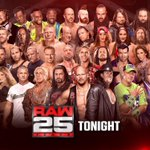 RT : TONIGHT. The celebration is ON! #RAW25 ht...