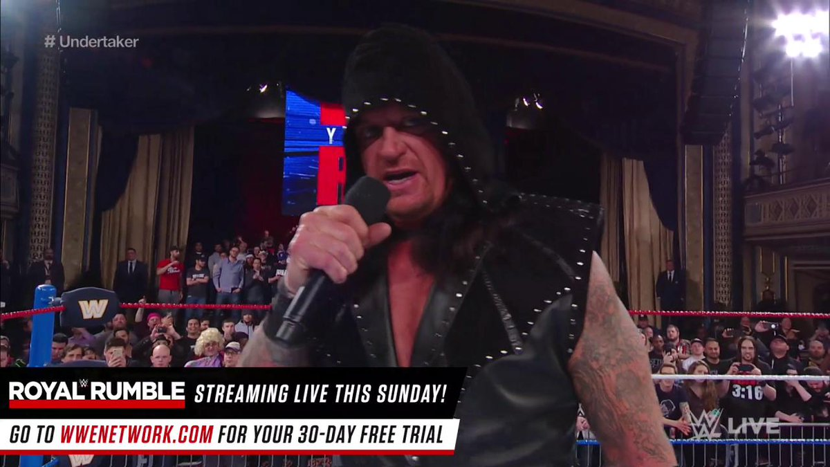The Undertaker returns at Mond the undertaker