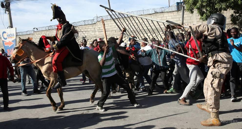 "Haitians stage protest, mock Trump over ""shithole"" comments"