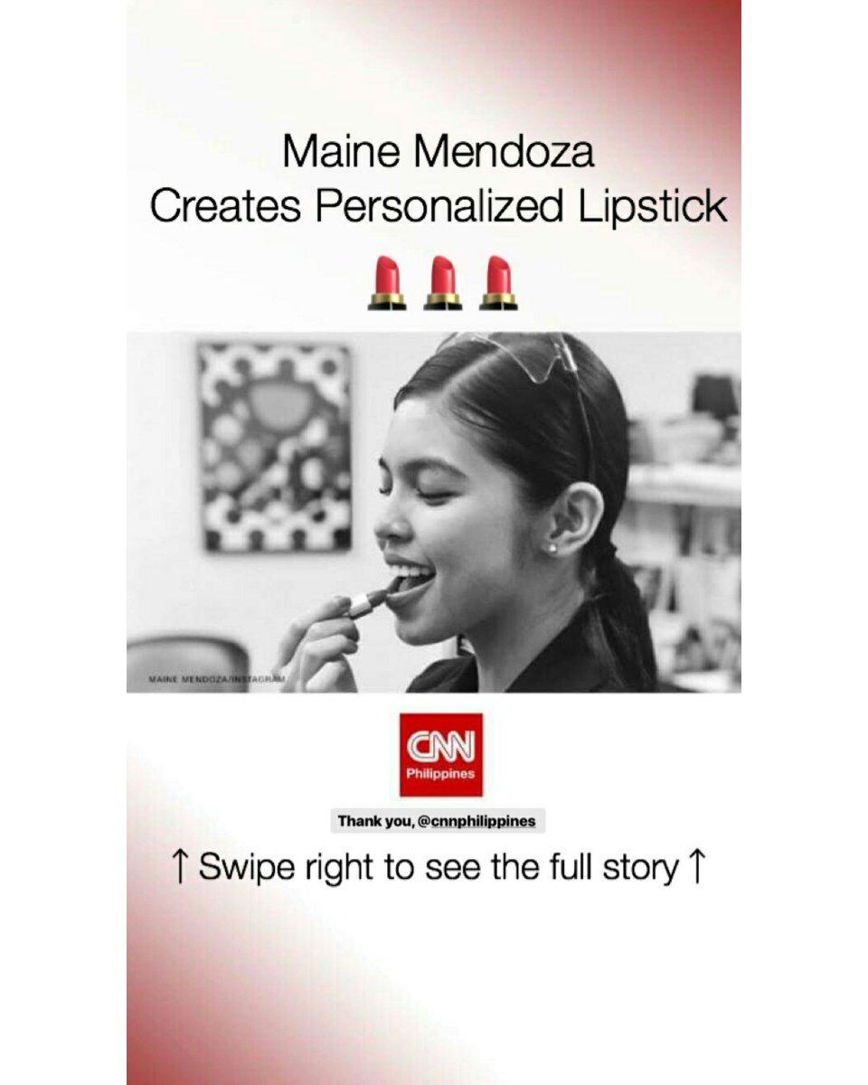 Maine Mendoza Creates Personalized Lipstick  @mainedcm 😚💕  © maccosmeticsph IG Story  #ALDUBMissNaMiss  #MAINEforMAC https://t.co/630zQhOcV5