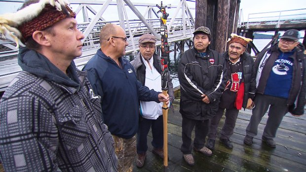First Nations leaders hand eviction notice to B.C. fish farm