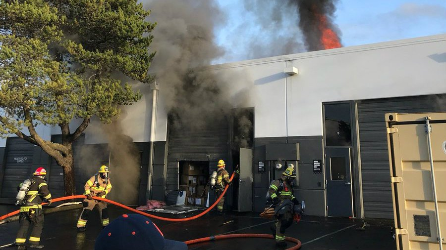 Fire breaks out in Nike storage building; no injuries