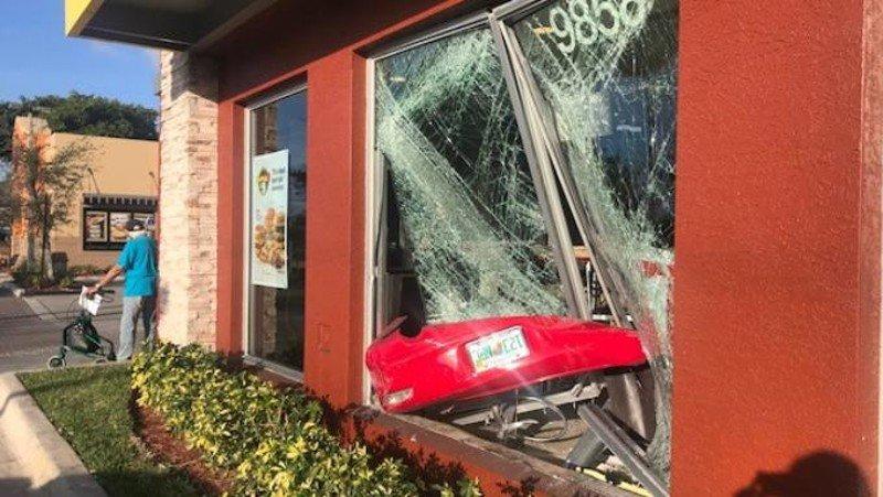 Florida woman, 81, smashes car into McDonald's: 'Glass flew everywhere'