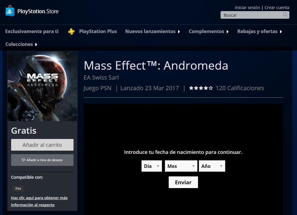 Mass Effect Andromeda GRATIS PSN https://t.co/DgZ6ty2aml https://t.co/sj4LxqVTuP