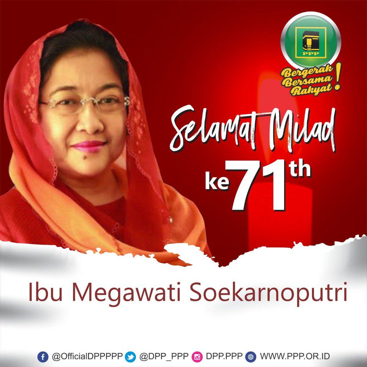 #RT @PDI_Perjuangan: RT @DPP_PPP: Selamat Milad ke-71 Ibu Megawati Soekarno Putri 😊 @PDI_Perjuangan https://t.co/LAxDrs03oq