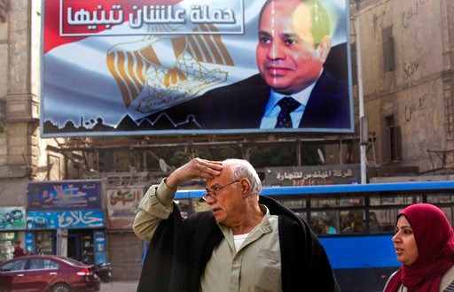 The Latest: Egypt presidential candidate to assess status