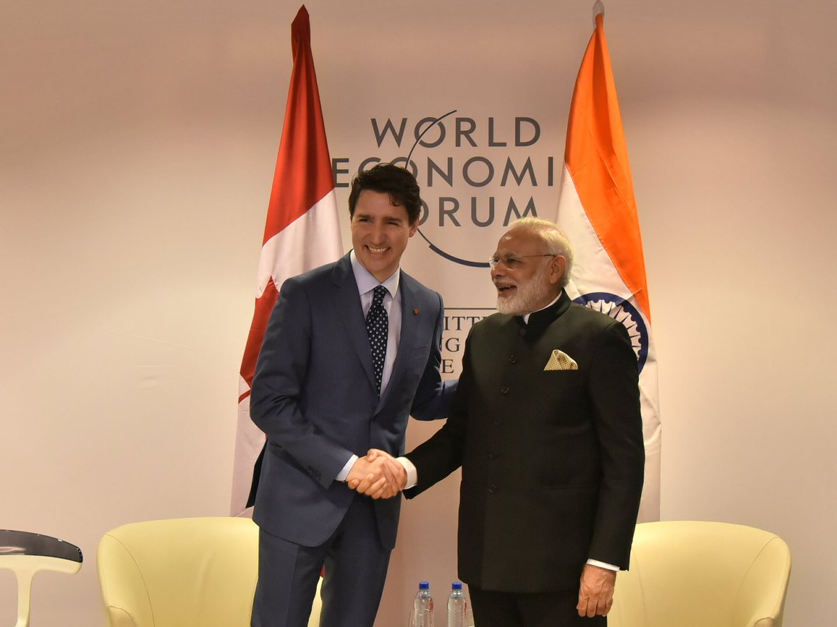 RT narendramodi Delighted to meet you, PM JustinTrudeau. Looking forward to welcoming you to India next month. https://t.co/wom10NLklA