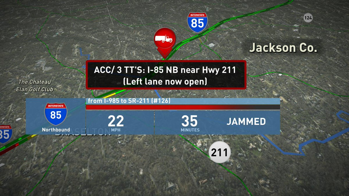 Some good news as lanes open I-85 NB near Hwy 211 but delays continue, Use Hwy 124 as alternate  #MorningRushATL https://t.co/PqEv5X94u2