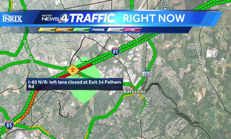 #Greenville Crash partially blocking I-85 NB at Pelham Rd. https://t.co/rbRmxFY77I