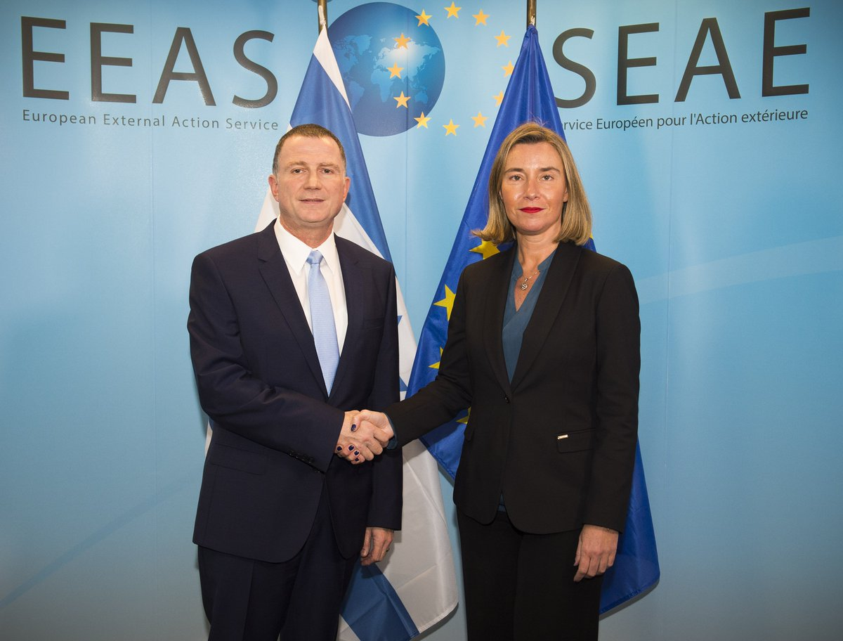 test Twitter Media - .@FedericaMog welcomed Israeli 🇮🇱 @KnessetIL speaker @YuliEdelstein to discuss solid bilateral relations, #MiddleEast Peace Process and worrying rise of anti semitism. https://t.co/7XFxBk5kbW