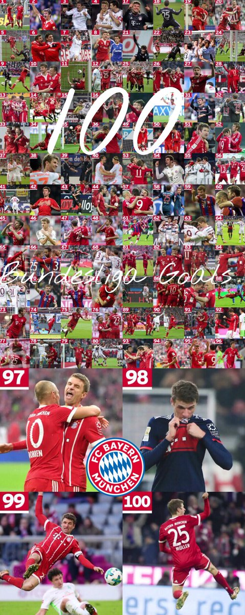 RT @xIts_Nicolex: 100 Bundesliga goals for #FCBayern for @esmuellert_ ❤️ #MiaSanMia 🔴⚪️ https://t.co/7UgiUElSOD