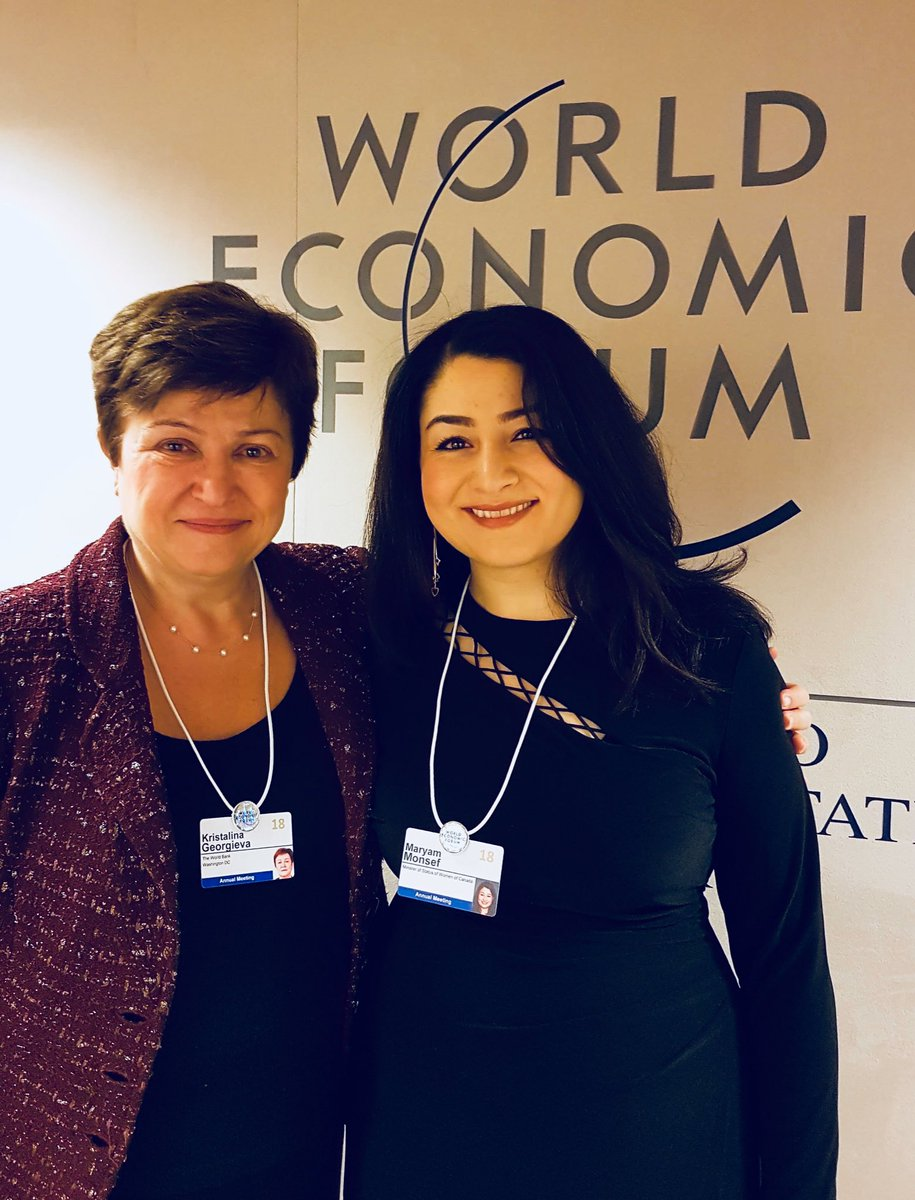 A productive meeting with @KGeorgieva, CEO of @WorldBank walking the talk of #genderequality together at #WEF18 https://t.co/NYVhvKYNXI