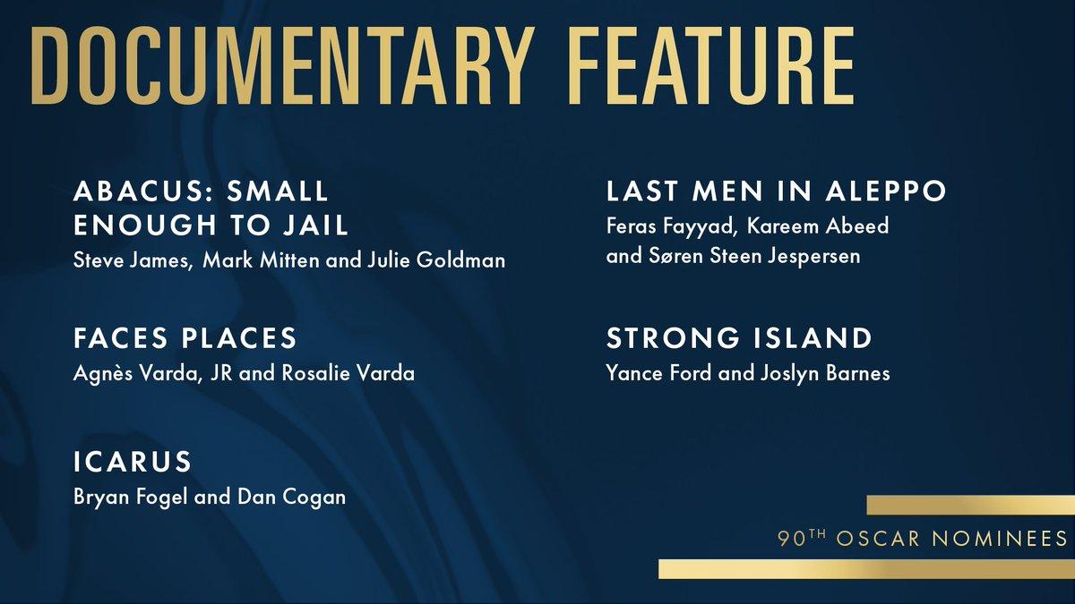 #OscarNoms