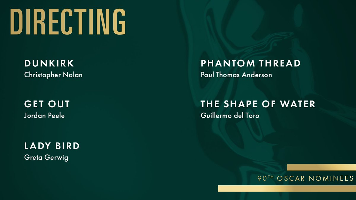 RT @TheAcademy: Congrats to our Directing nominees! #Oscars #OscarNoms https://t.co/QakODt73BY