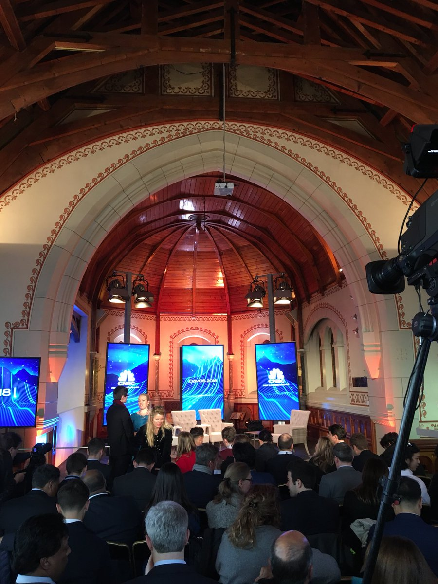 Talking impact investing in Davos with axel weber chairman of #UBS #wef18 in a  church !!! https://t.co/usnBnaSY3z