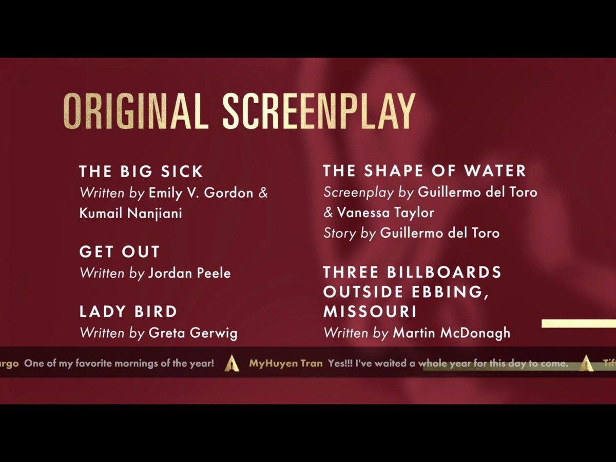 .@RealGDT y @JordanPeele nominados en Mejor Guión Original y Mejor Director 👏👏👏 #OscarNoms ☞ https://t.co/SkBruYXFIi