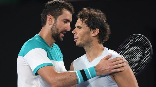 Australian Open: Marin Cilic beats Rafael Nadal to reach semi-finals https://t.co/4O6lRKcuad #AusOpen https://t.co/QDY7nSM3Q3
