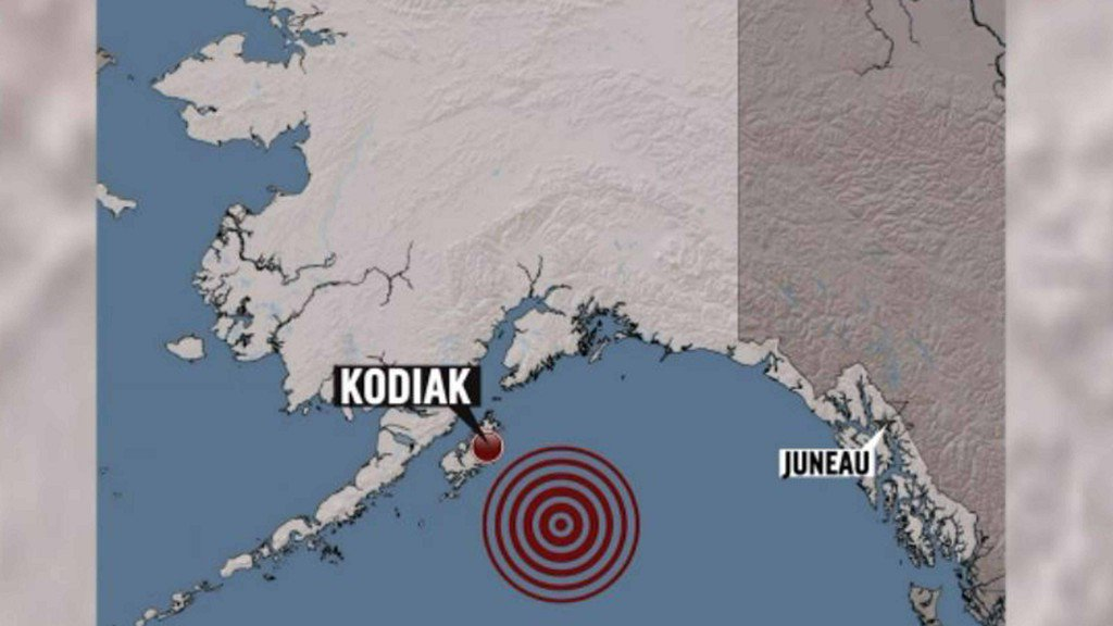 Kodiak, Alaska hit by 7.9 quake; West Coast tsunami warning canceled