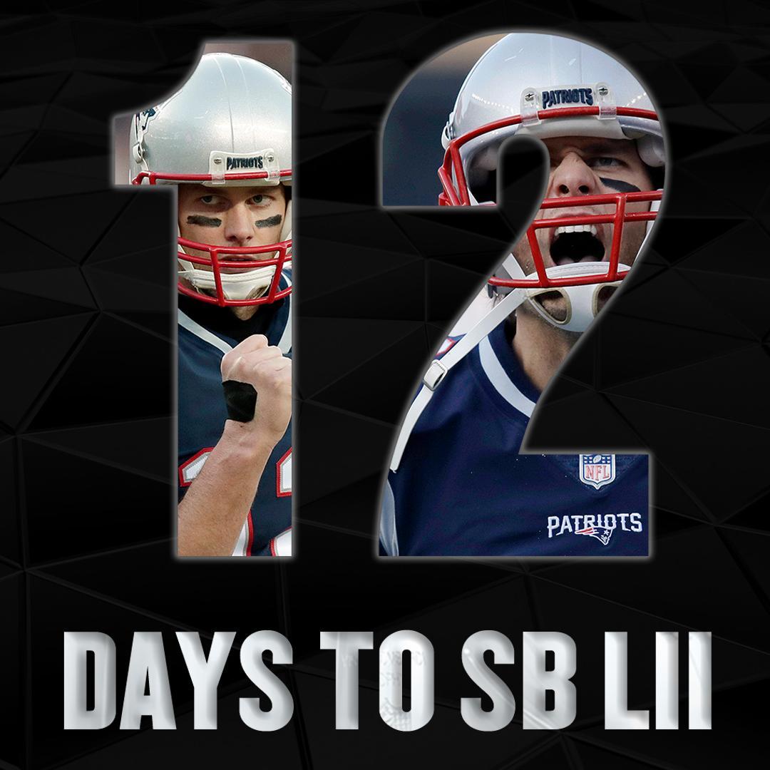 RT @SNFonNBC: We're Tom Brady days away from Eagles vs @Patriots in #SBLII https://t.co/LVQxcgGQNK
