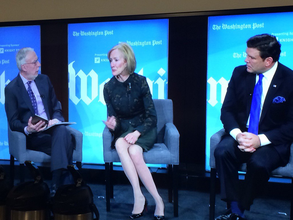 .@JudyWoodruff @BretBaier @danbalz talk challenges of reporting news in polarized environment-Tune in #PostLive now https://t.co/Dlug0AqewF